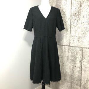 Rebecca Taylor Fringe Textured Distressed Dress